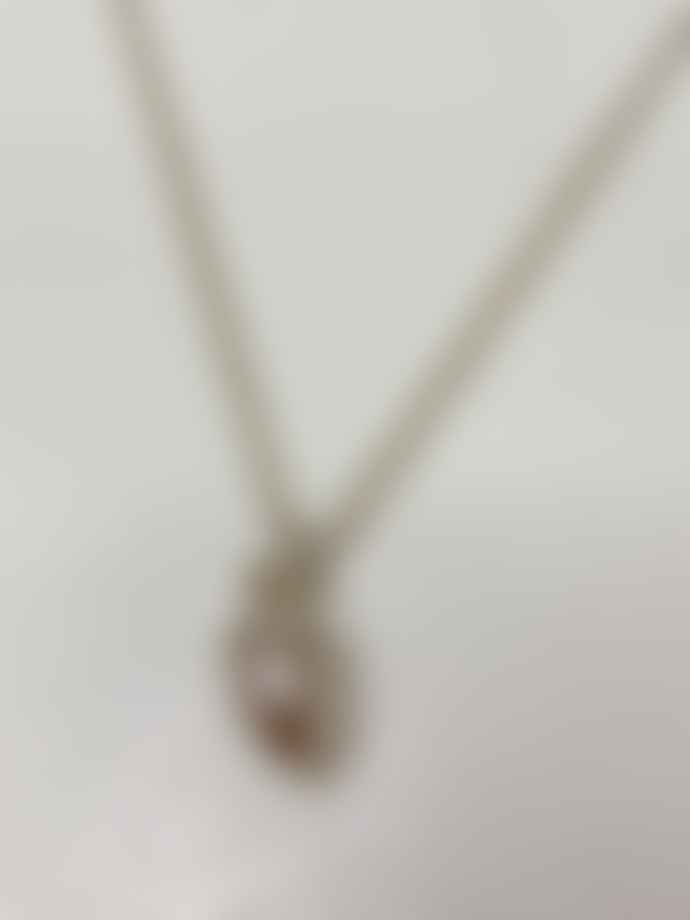 Cabbage White Acorn Necklace With Chunky Chain Silver
