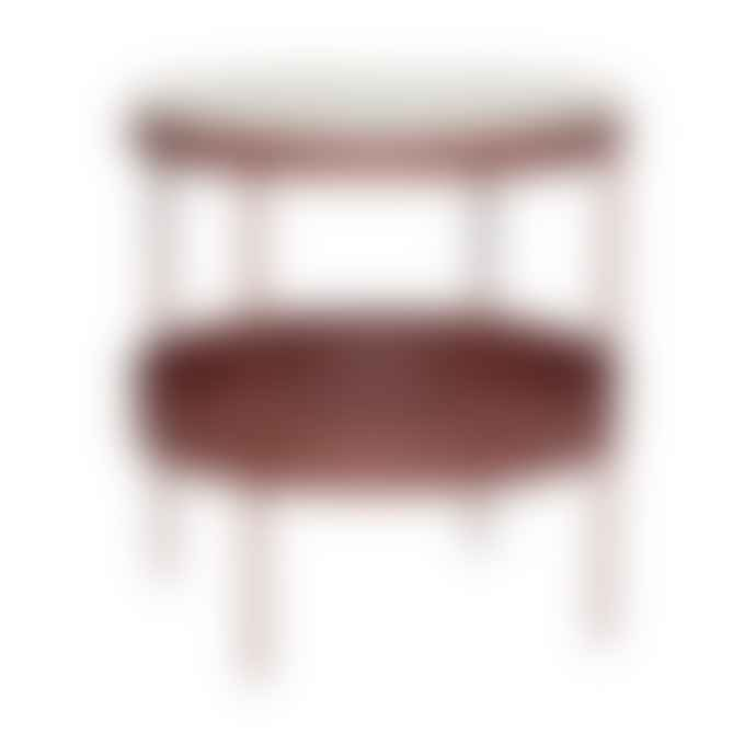 Hubsch Terrazzo Red Side Table