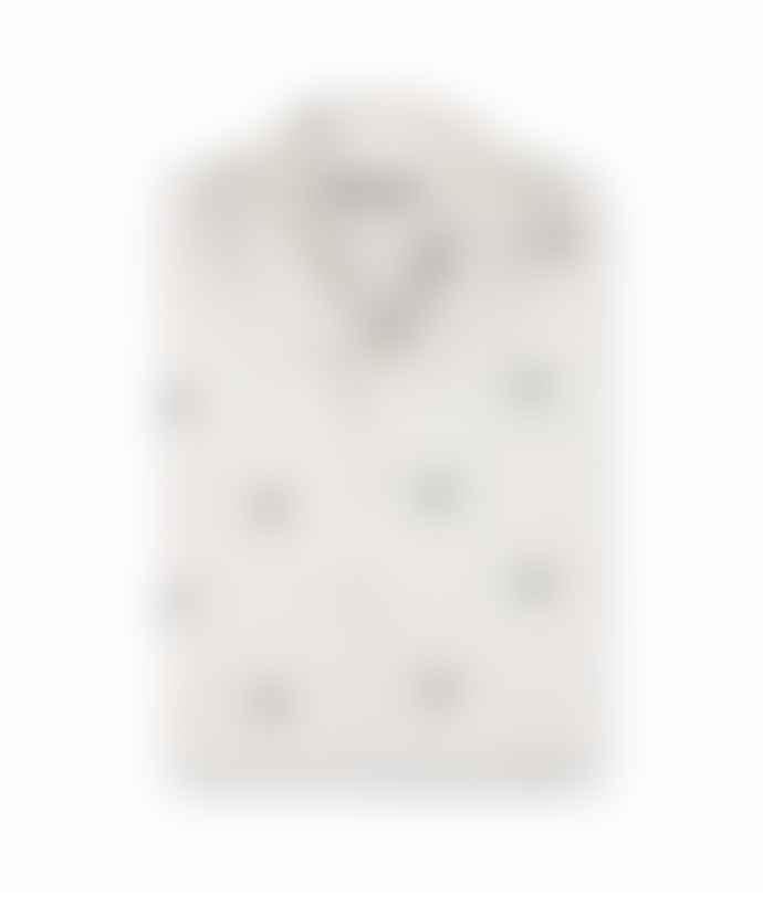 Brava Fabrics Off White Copenhagen Deer Print Shirt