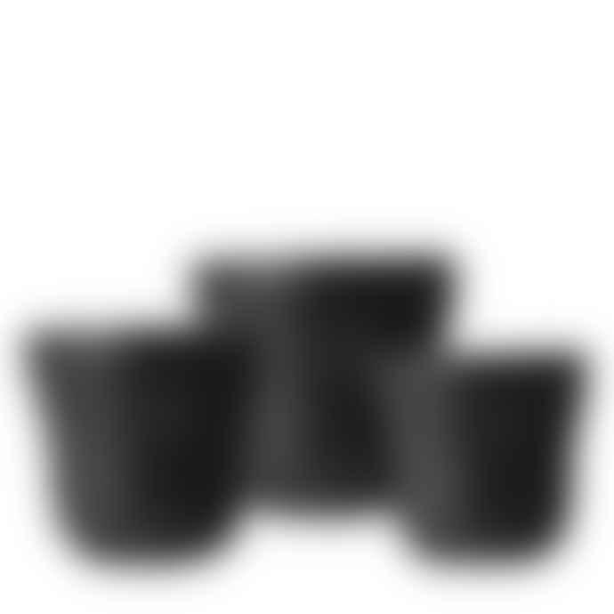 Wikholm Form Set of 3 Black Pots