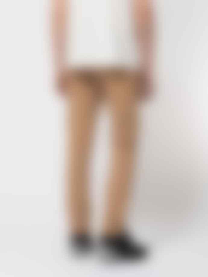Nudie Jeans Beige Organic Cotton Straight Jeans Grim Tim Desert Worn
