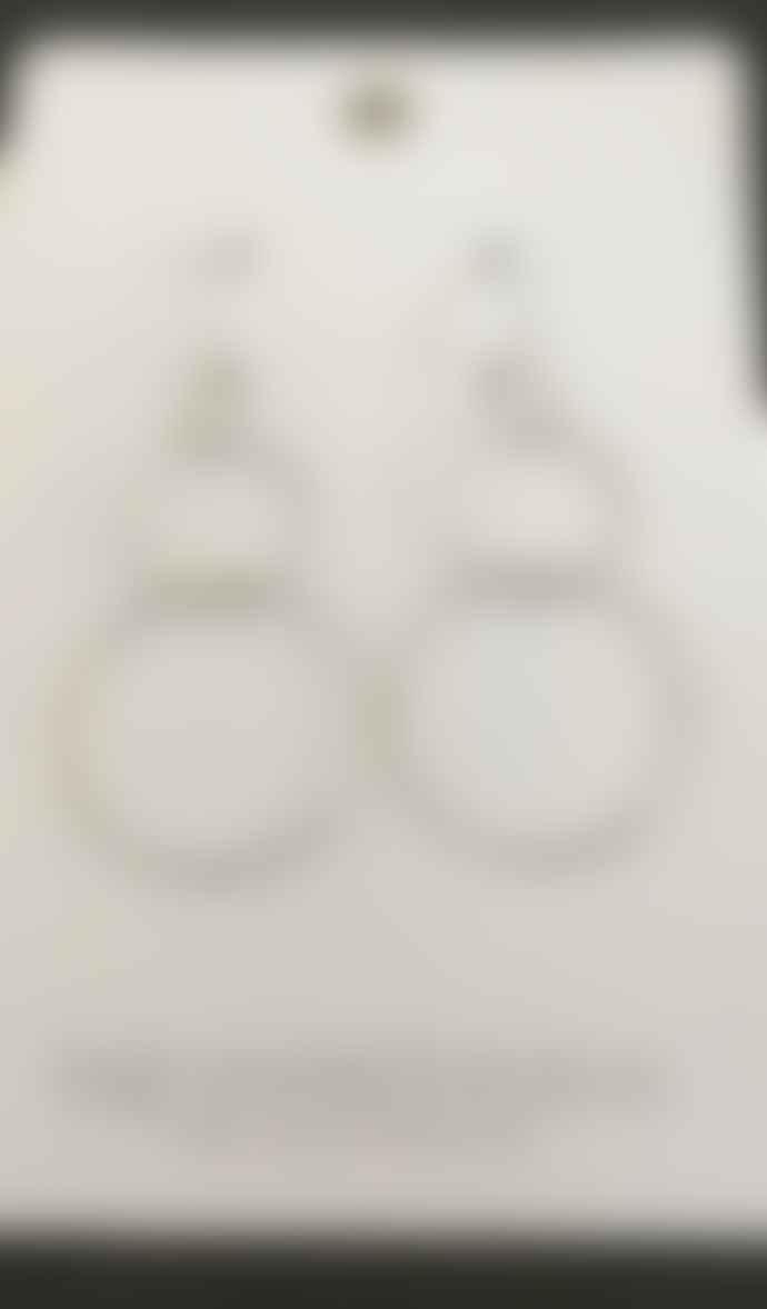 Big Metal 3 Circle Earrings