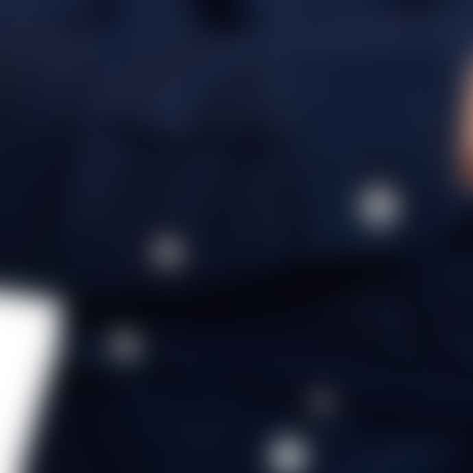 Superdry Indigo Linen Button Down Long Sleeve Shirt