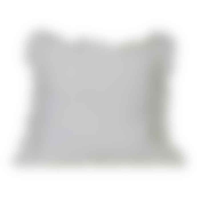 The Grey Works French Linen Cushion With A Frill in White