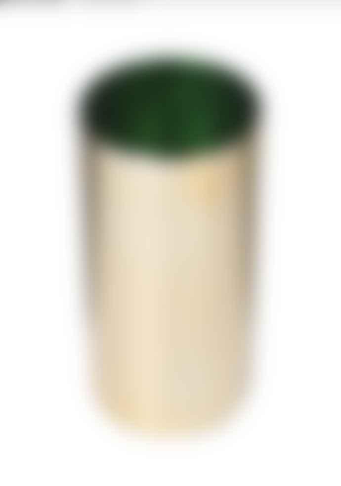 Gold & Green Vase