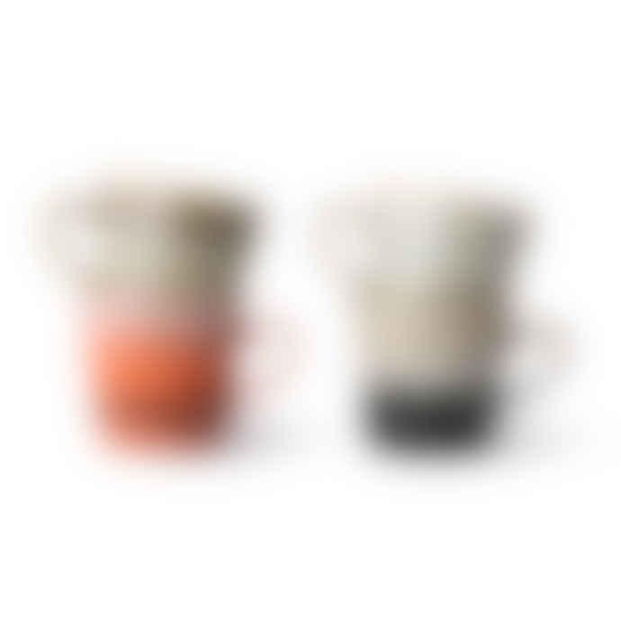 HKliving 70's Ceramic Americano Mugs Set of 4