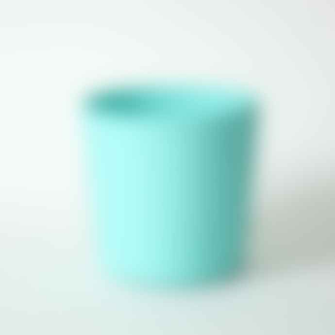 Serax Hand Painted Stoneware Plant Pot Tall Turquoise