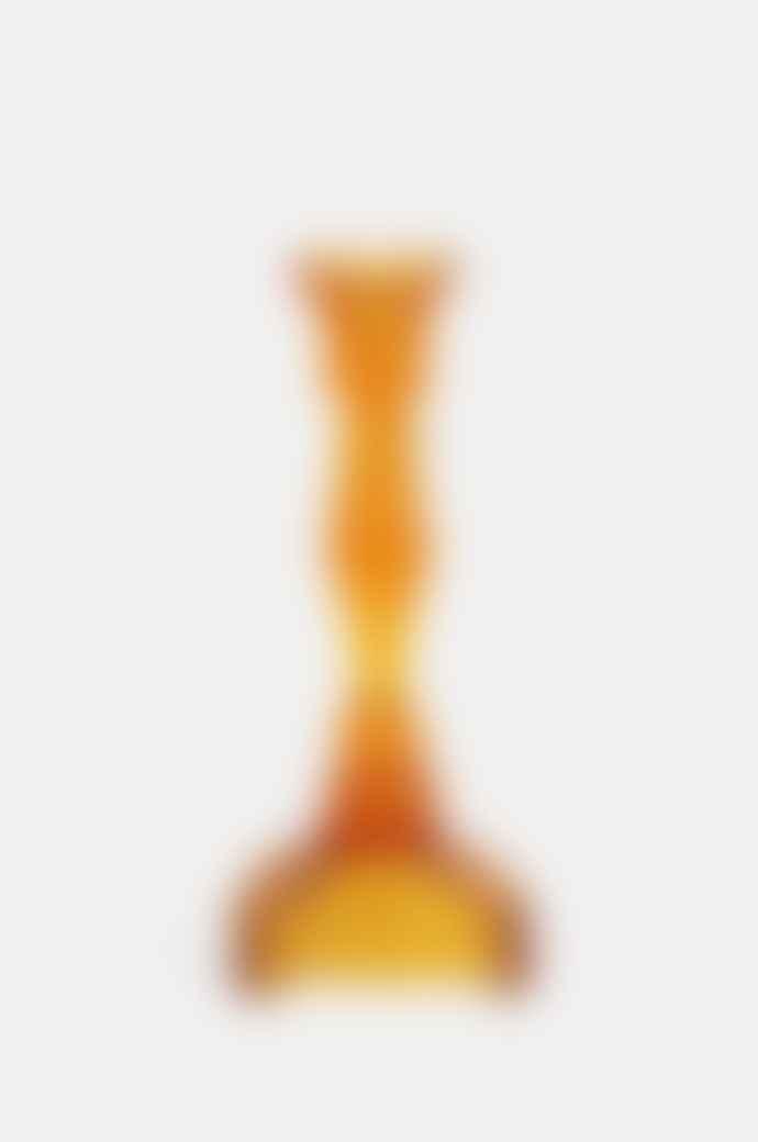 Van Verre Fin De Siecle Candlestick In Amber