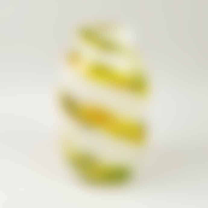 HAY Medium Lemon Swirl Hand Blown Splash Vase