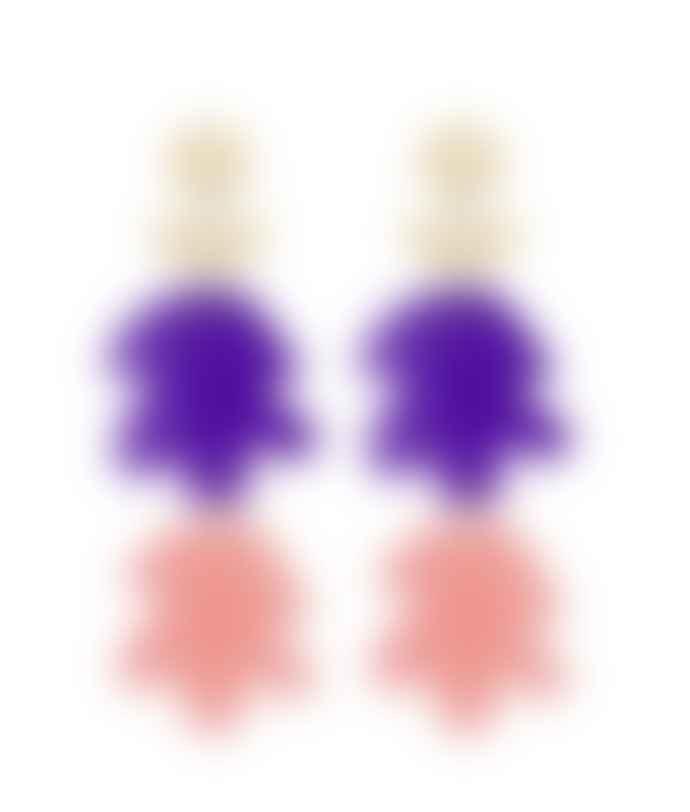 Orella Jewelry Fiore Earrings - Violet/Pink