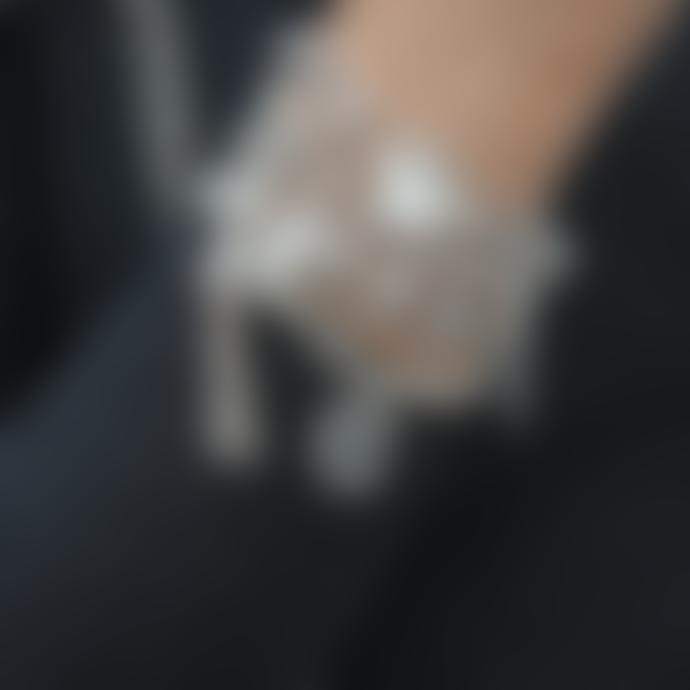 ChloBo Cute Mini Butterfly Bracelet Silver