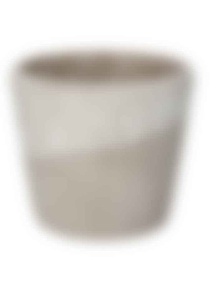 Gisela Graham Spot Stripe Concrete Pot