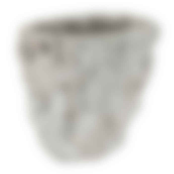 PTMD Small Brutalist Ceramic Vase 14 cm