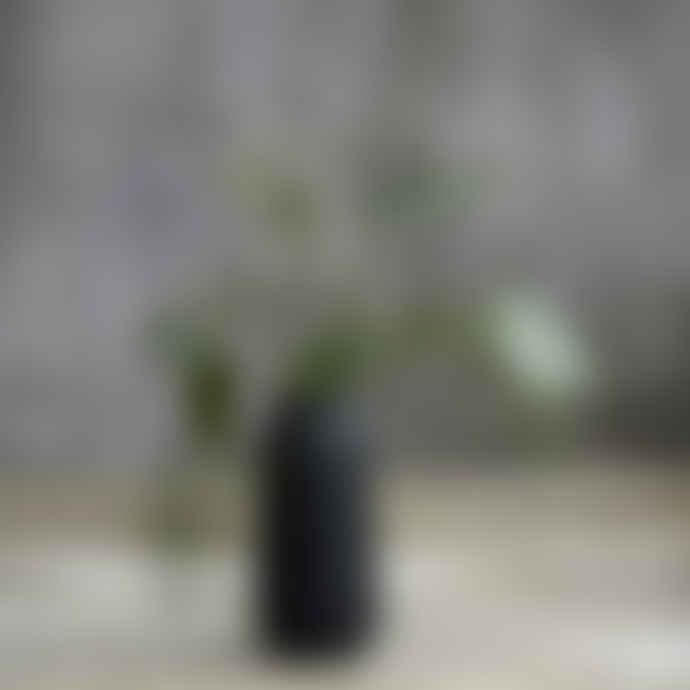 House Doctor Vase Groove Black 35cm