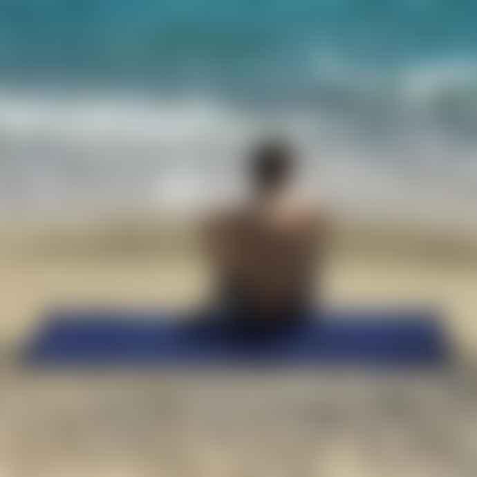 Sun Of A Beach Just Navy Monochrome Beach Towel