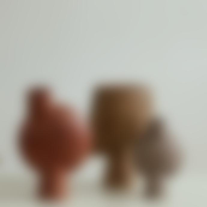 101 Copenhagen Mini Ocher Square Sphere Vase