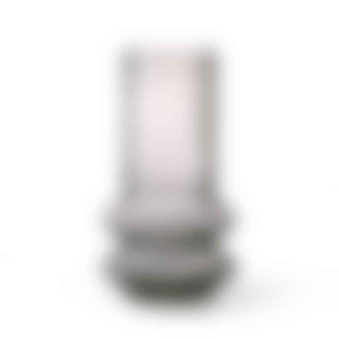 HKliving Smoked Grey Glass Vase M