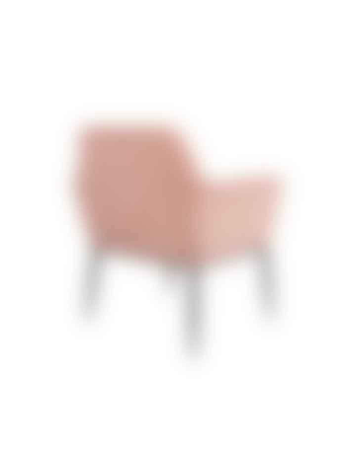 Dutchbone Kate Pink Velvet Lounge Chair