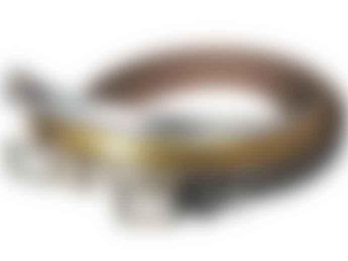 Fioriblu Metallic Leather Belt - Silver