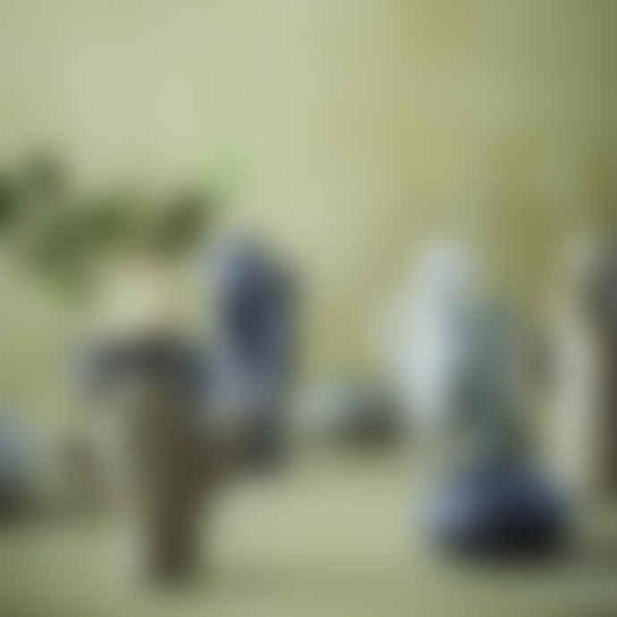 Madam Stoltz Large White Ceramic Cactus Vase
