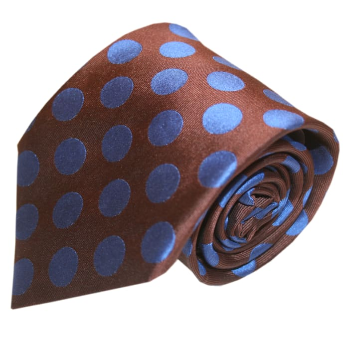 e398338550ae Trouva: Brown & Blue Spotted Tie
