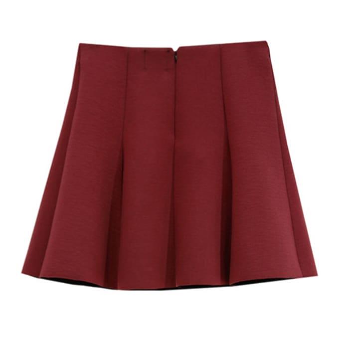 ffbe6950c Outstanding Ordinary Burgundy Skater Skirt