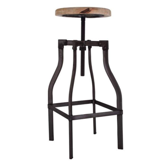 Miraculous Vintage Industrial Style Bar Stool With Adjustable Seat Frankydiablos Diy Chair Ideas Frankydiabloscom