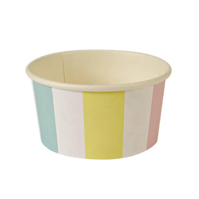 Meri Meri Striped Ice Cream Cups