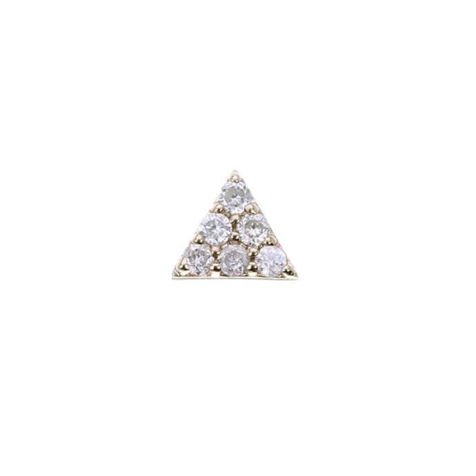 896c83b2d Trouva: Mini Pyramid Gold Stud Earring