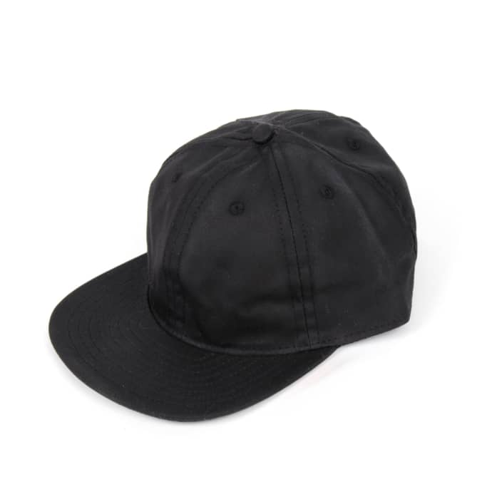 e7a24ad20111d Trouva  Waxed Canvas Ball Cap Black