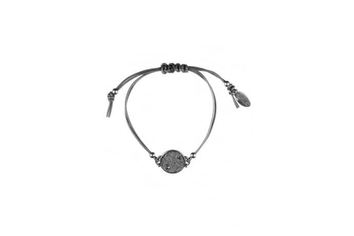Hultquist-Copenhagen Oak Leaf And Maple Seed Silver Crystal Bracelet