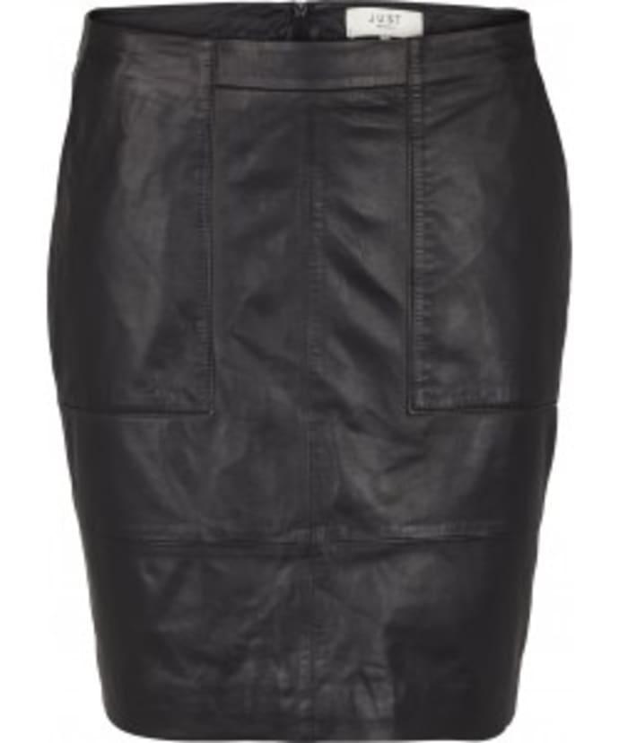 68eb2d3c8e Just Female Black Alberte Leather Skirt
