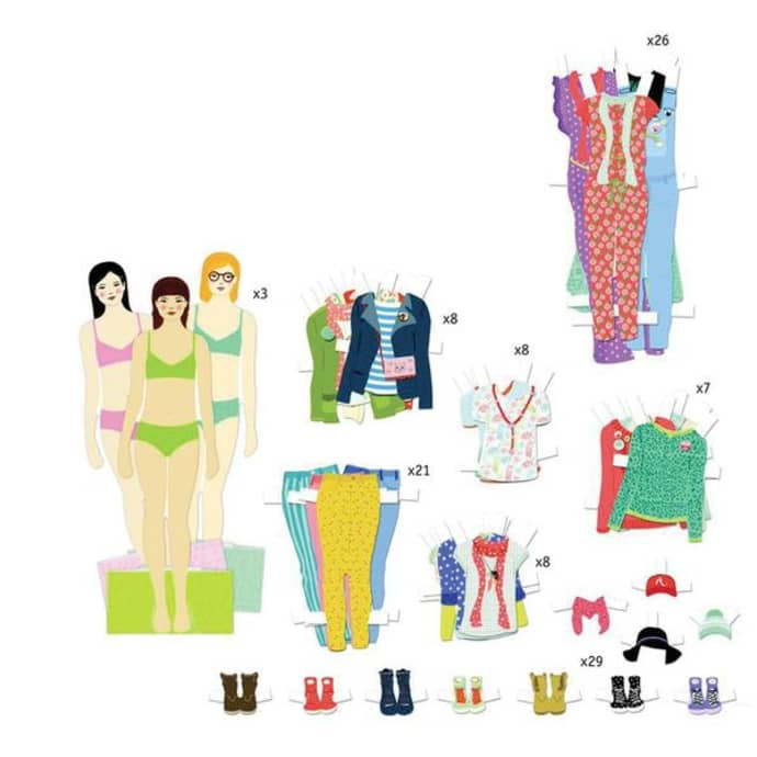 Djeco Big Dressing Room Paper Dolls Craft Toy