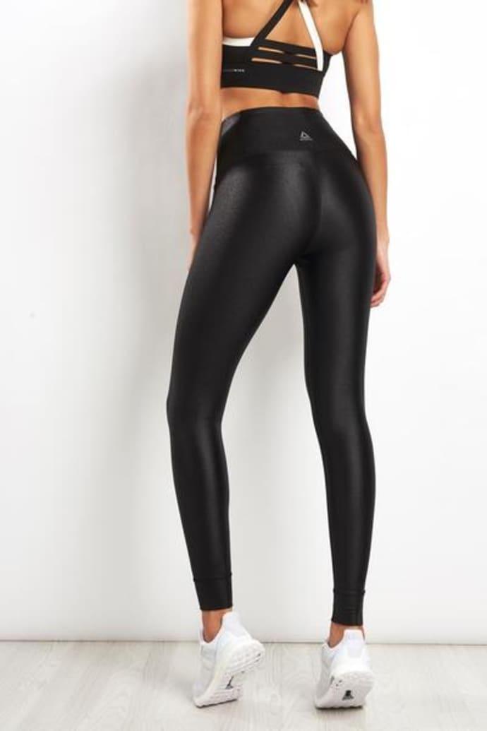 fc80736085cf73 Trouva: Metallic Black High Rise Leggings