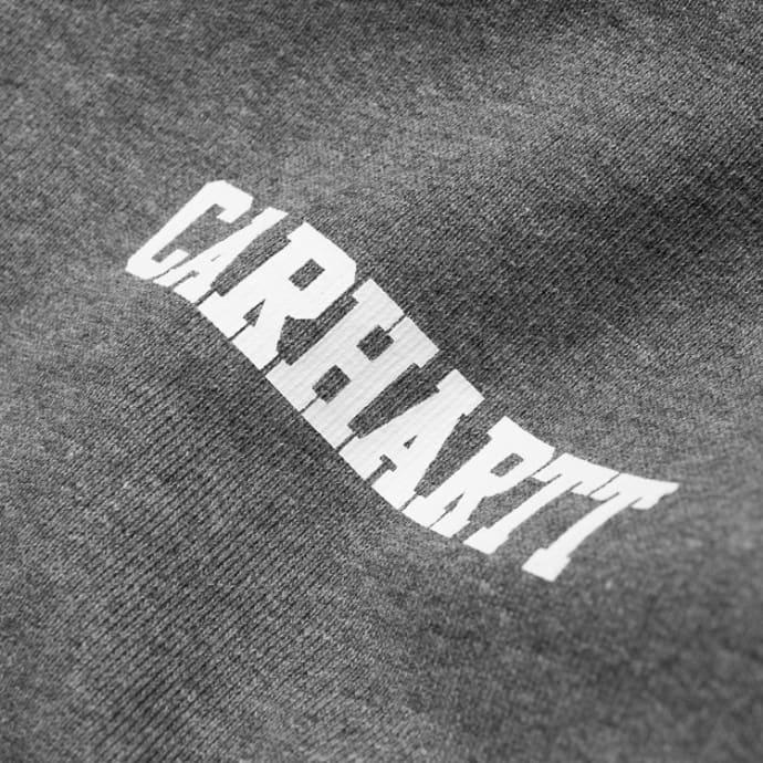 Carhartt Dark Grey Heather College Script Sweater