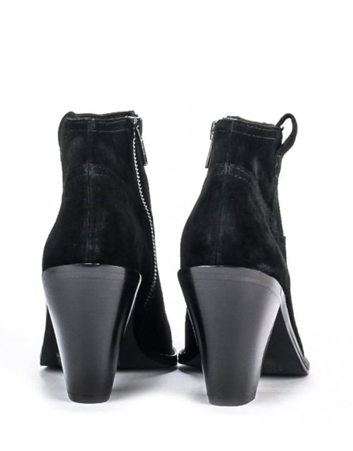 8261693b673 Ash Ivana Black Suede Ankle Boots