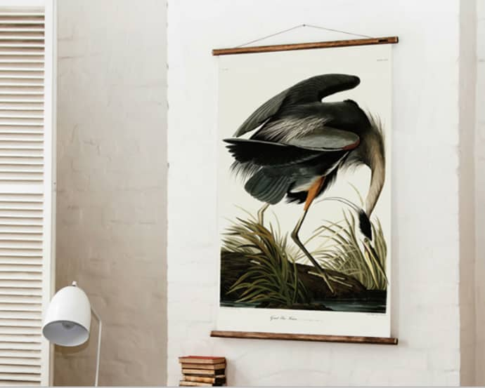 Erstwhile Erstwhile Great Blue Heron Print Airtex Canvas Wall Hanging