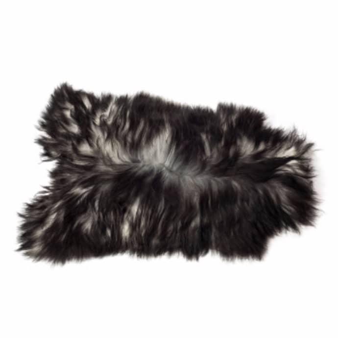 Grey, Long Haired, Icelandic Sheepskin Rug