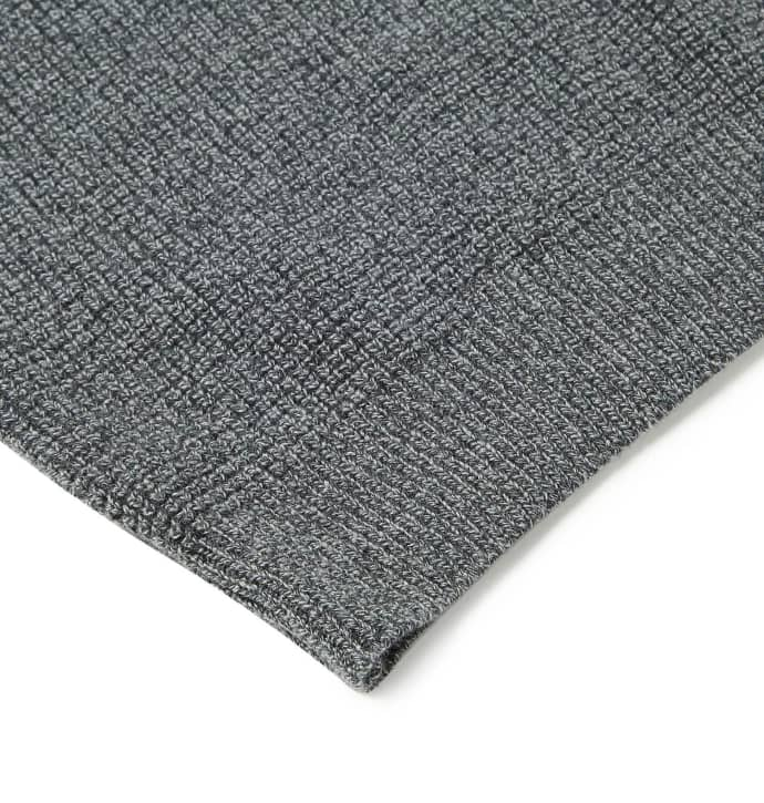 f2b8ad28d82 Sunspel Textured Merino Wool Charcoal Single Roll Pullover Guernsey Sweater