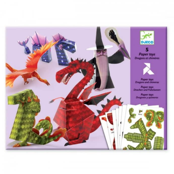 Djeco Dragons And Chimeres To Make Paper Toys Age 7-13