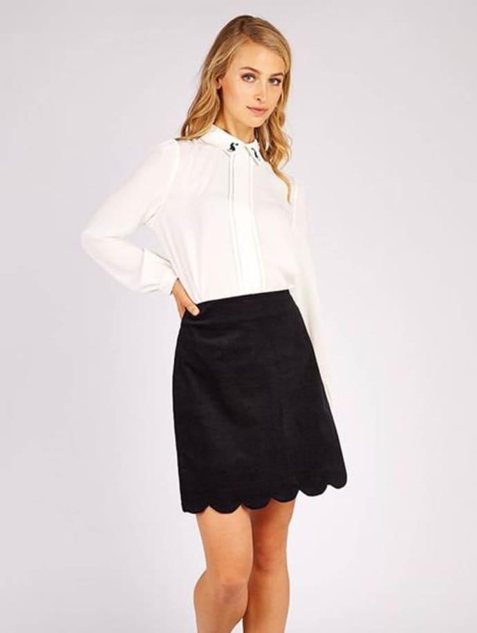 verschiedene Farben 100% Spitzenqualität gut Louche Alicja Black Cord Skirt