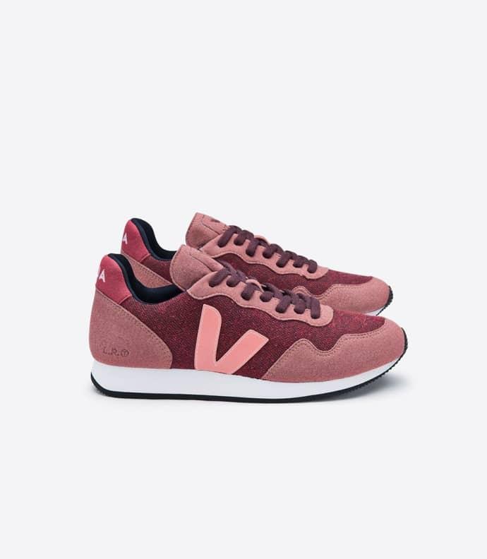 SDU Burgundy Dried Petal Blush Sneakers
