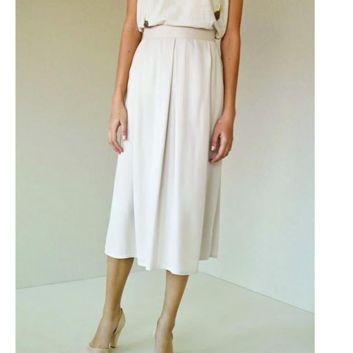 pretty cheap beautiful in colour cheap sale Intropia Ivory Draped Midi Skirt