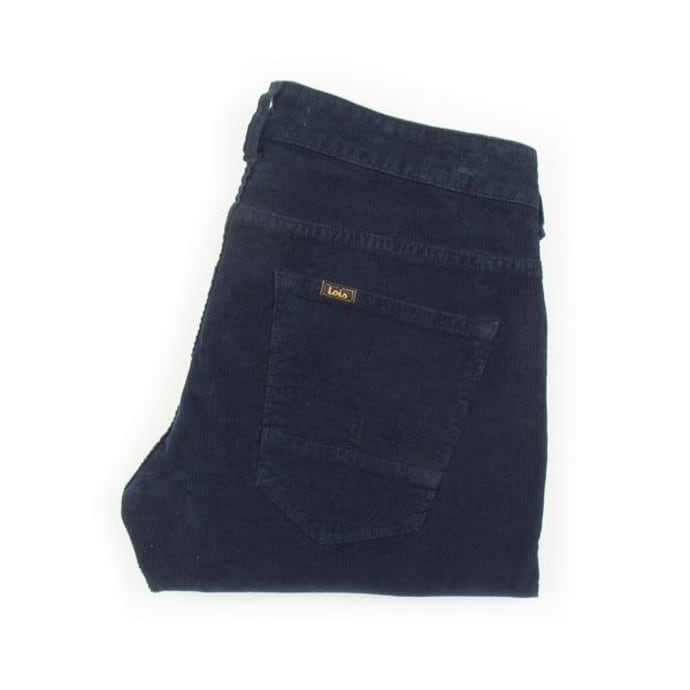 4bcd5ca6d07 Trouva: Pantalones de cuerdas de aguja de sierra azul marino oscuro