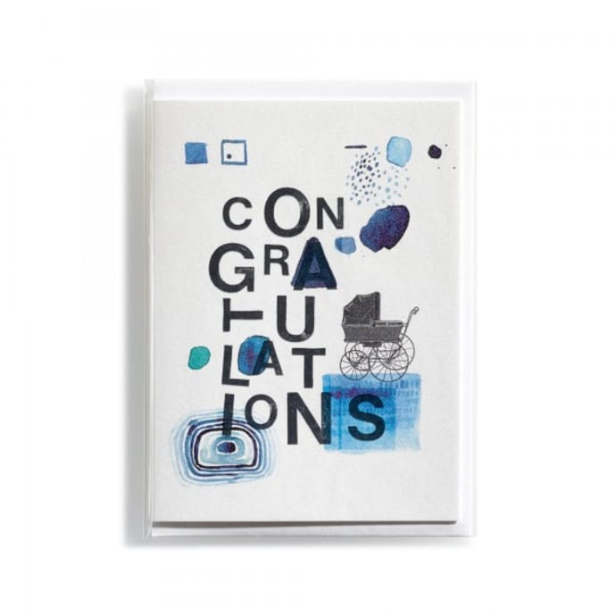 Made In Mitte Congratulations Boy Birth Greeting Card