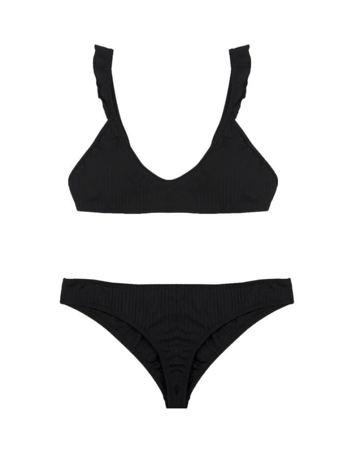the best attitude 3e947 ddb60 Pukas Surf Black Bikini Bottoms With Frill