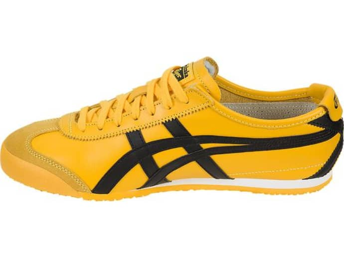 separation shoes 5713c ecc02 Onitsuka Tiger Yellow Black Dl 408 0490 Mexico 66 Womens Trainers