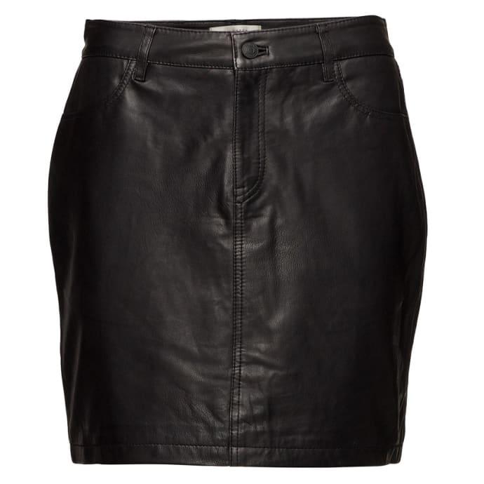 72f132c144 Trouva: Black Sfjessie Leather J Skirt