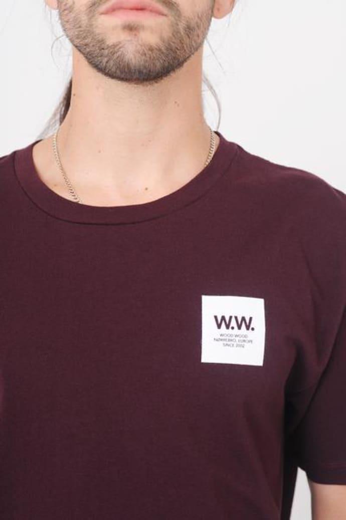 db9340d03da Wood Wood Burgundy Ww Box T Shirt
