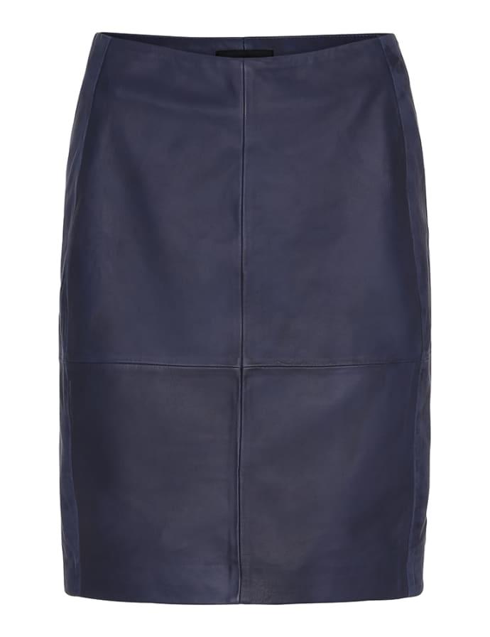 a45da3413b Trouva: Navy 2ND Cecilia Leather Skirt